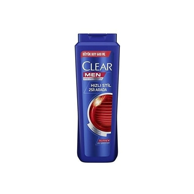 Clear Şampuan Men Hızlı Stil 2 in 1 600 Ml